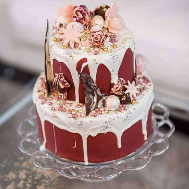 Wedding Cake Drip Cake White Chocolate