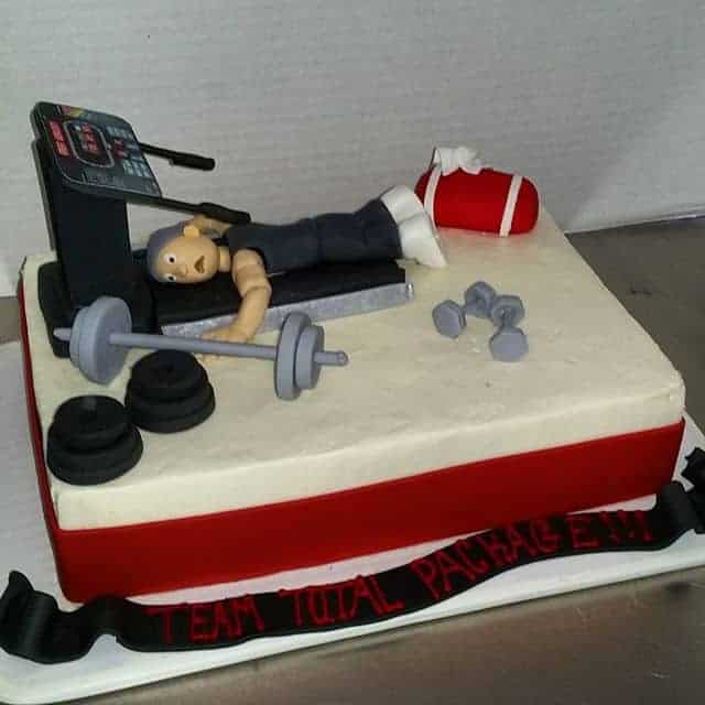 Treadmill and New Years Resolution Cake