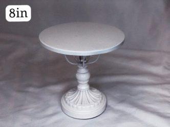 White Ornate Elevated Cake Stand