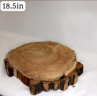 Wooden Slab Rustic Cake Stand